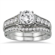 Marquee Jewels 14k White Gold 1 3/4ct TDW White Diamond Bridal Set
