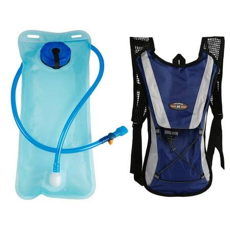 2L Water Bladder Bag Rucksack Cycling Sport Bag Backpack Pack Hiking Camping Blue    2L Bicycle Bike Cycling Mouth Water Bladder Bag Hydration Camping Sports Blue