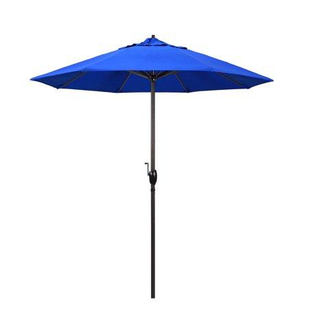 California Umbrella Casa Series 7.5 ft. Sunbrella Aluminum Patio Umbrella with Auto (Regatta Air)