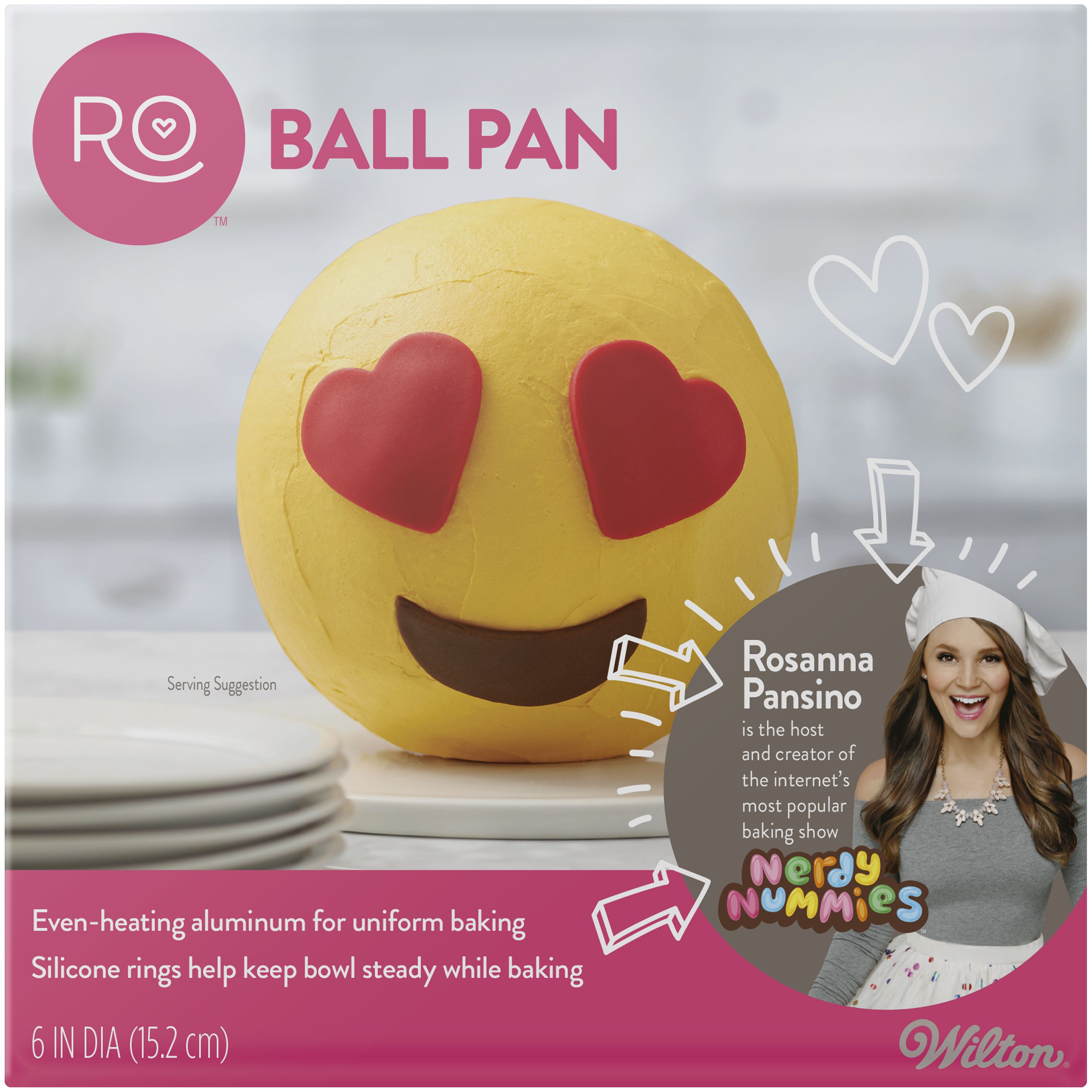 "Wilton Rosanna Pansino Ball Pan, 6"" Diameter"