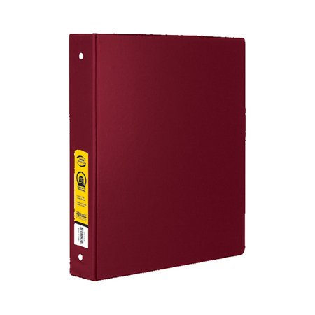 bazic products 4130 12 1 5 inch burgundy 3 ring binder with 2