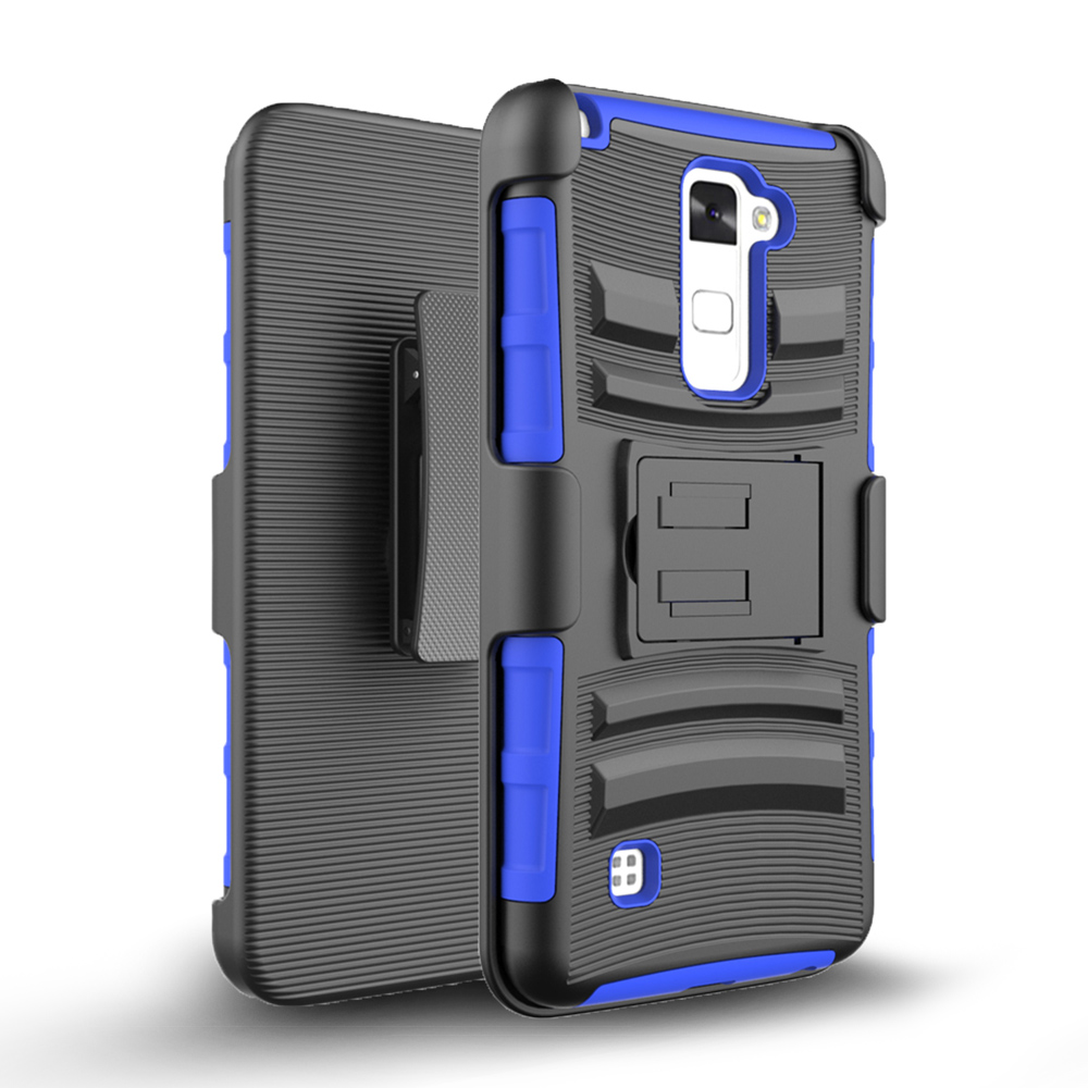 Zizo Armor Cover for LG Stylo 2 Plus MS550 w/ Kickstand Holster Clip Heavy Duty Strong Protective Case Slim Shockproof Dual Layer