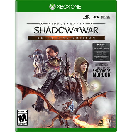 Middle Earth: Shadow Of War Definitive Edition, Warner Bros, Xbox One, (Shadow Of Mordor Lord Of The Hunt)