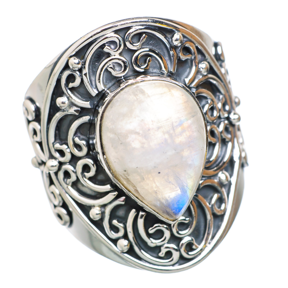 Ana Silver Co Rainbow Moonstone 925 Sterling Silver Ring Size 8.75 RING795225