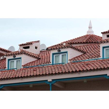 Doors Windows Roof Tiles - LAMINATED POSTER Tenerife Tile Tiles Window Cover The Roof Of The Poster Print 24 x 36