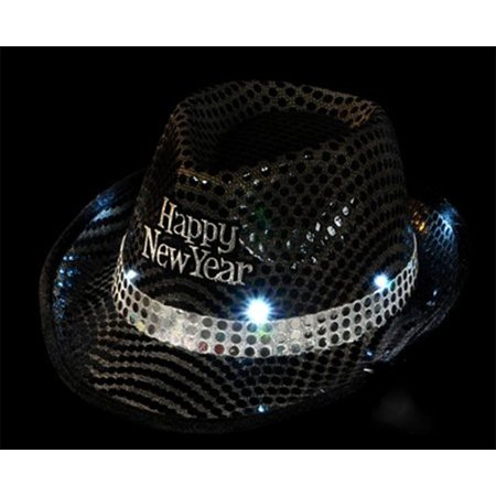 Light Up New Years Sequin Fedora Hat - Sequin Fedora