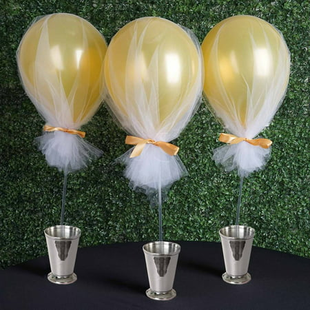 BalsaCircle 10 pcs Balloons Clear Column Stand Sticks Holders Wedding Event Graduation Party Centerpieces Supplies Home - Affordable Party Decorations