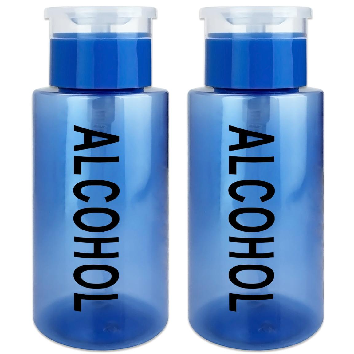 Pana High Quality 7oz Liquid Pump Dispenser With Alcohol Label - Teal (2 Bottles)