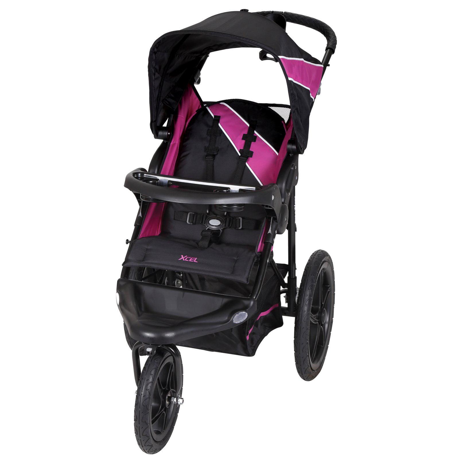 Baby Trend XCEL Jogging Stroller, Raspberry