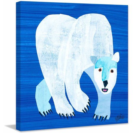 Eric Carle Polar Bear Art Print on Premium Canvas