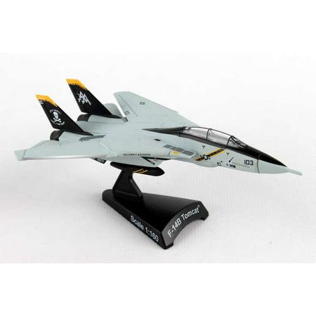 Diecast Metal Airplane w/ Stand - F-14 Tomcat VF-103 Jolly Rogers 1/160 Jet