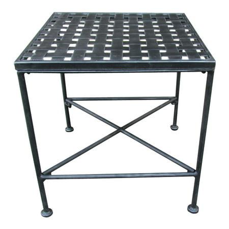 Alexander Outdoor Iron End Table, Black