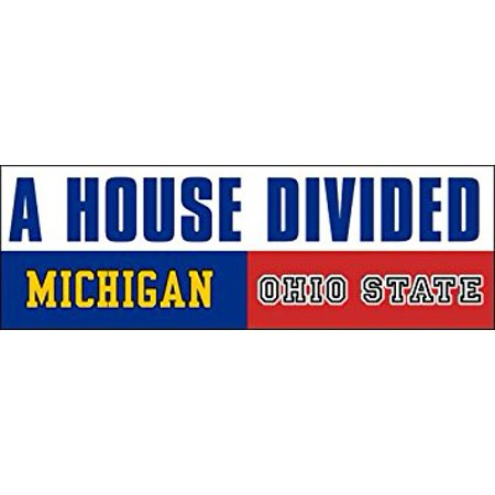 A House Divided MICHIGAN - OHIO STATE Sticker Decal(football rivals buckeyes) 3 x 9 inch