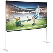 Projector Screen with Stand 100 inch 16:9 HD 4K Outdoor/Indoor front Projections Movies Screen with Carry Bag for Home Theater Backyard Cinema