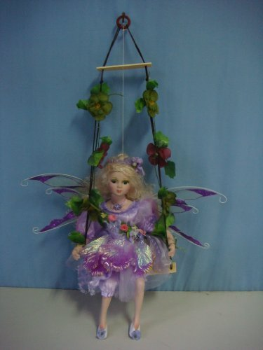 Jmisa 16 in. Porcelain Fairy Doll on Swing by jmisa