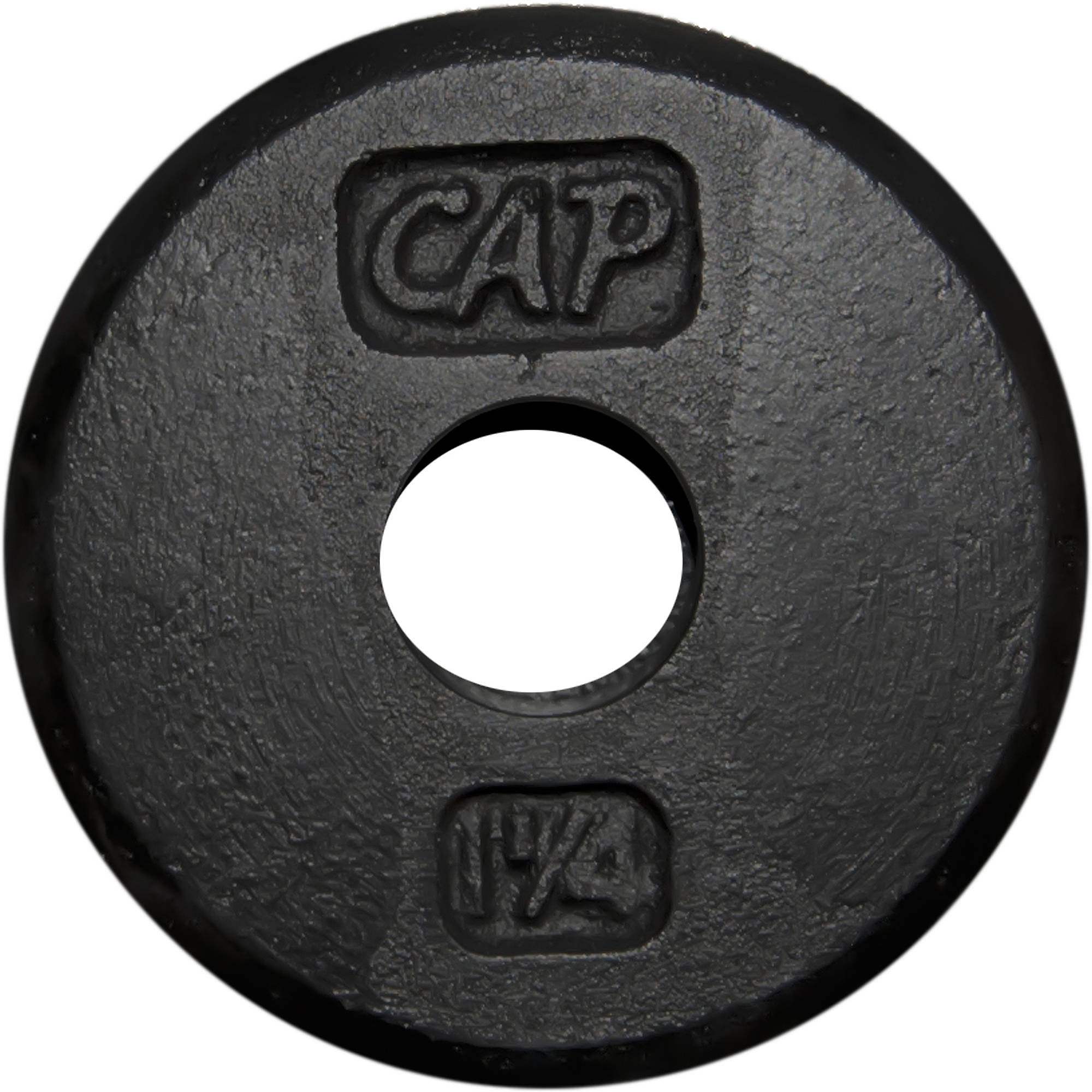 CAP Barbell - Standard Cast Iron Weight Plate, 1.25 lbs, Black