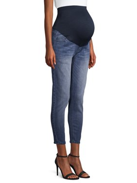 Maternity Time and Tru Skinny Ankle Length Jeans with Full Panel (Available in Multiple Colors)