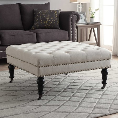 Linon Isabelle Square Tufted Ottoman Multiple Colors 17