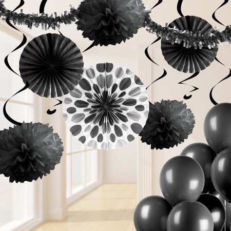 Black Party Decorations Kit
