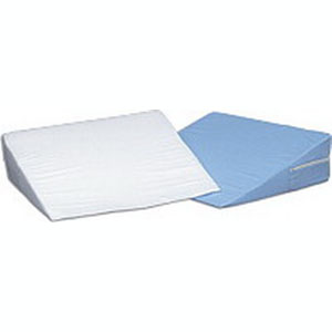 "Foam Bed Wedge, White Cover, 10"" X 24"" X 24"""