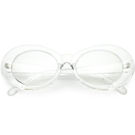 25e0c8444d sunglass.la - Large Clout Goggles Thick Oval Eyeglasses Clear Lens 53mm ( Clear   Clear) - Walmart.com