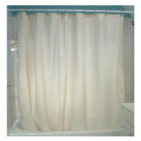 Cotton Shower Curtain – 7 oz. Duck Fabric, Made in USA by Bean Products - Natural