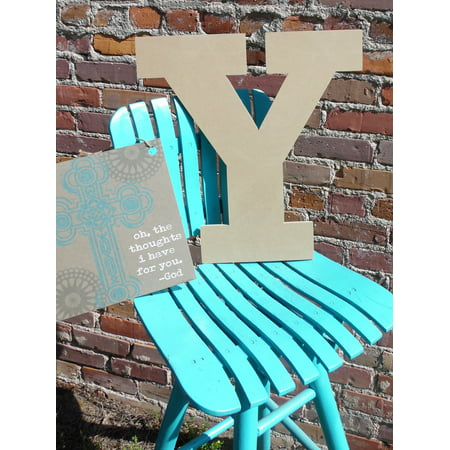 8 Craft Letter (Craft Wooden Letter 8'' Y, Unfinished Wood Wall Letter, Rockwell )