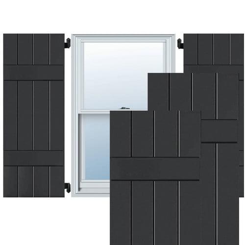 Ekena Millwork Exterior 4 Composite Wood Board-N-Batten Shutter (Set of 2)