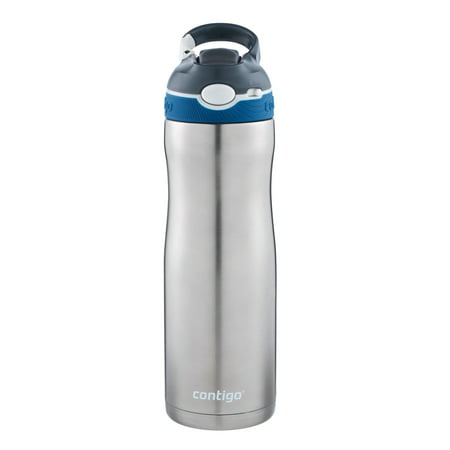 Contigo AUTOSPOUT Straw Ashland Chill Stainless Steel Water Bottle, 20 oz, Monaco (Nets Water Bottle)