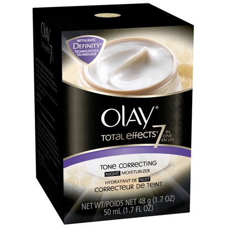 Olay Total Effects 7-In-1 Tone Correcting Night Moisturizer, 1.7 Fluid Ounce