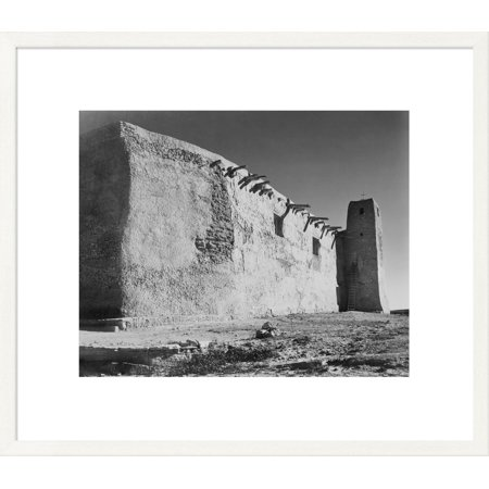 Ansel Adams Gallery (Global Gallery Ansel Adams 'Church Side Wall and Tower, Acoma Pueblo, New Mexico - National Parks and Monuments, ca. 1933-1942' Framed Wall)