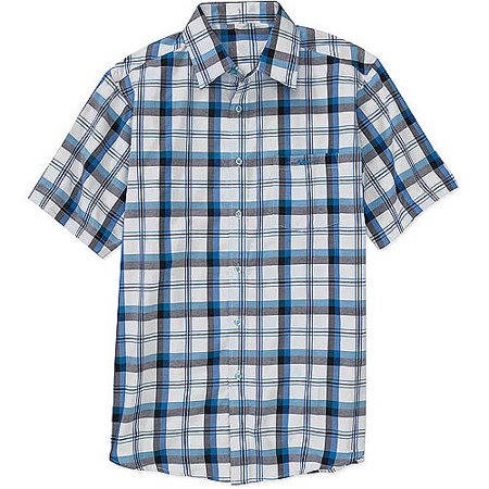 Men 39 s short sleeve plaid shirt Short sleeve plaid shirts