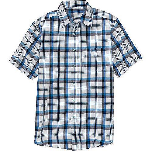 Men's Short Sleeve Plaid Shirt - Walmart.com