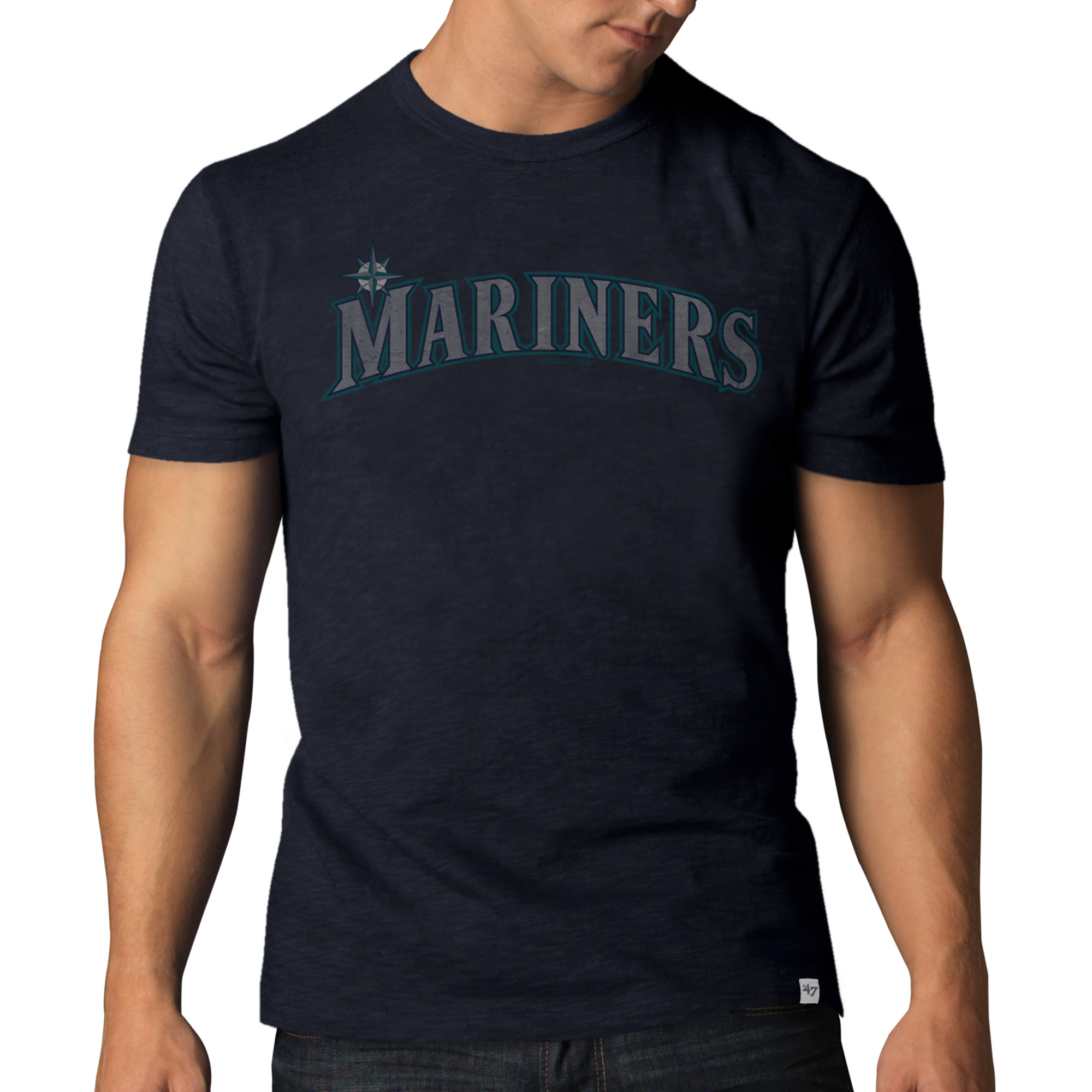 Seattle Mariners '47 Basic Wordmark Scrum T-Shirt - Navy