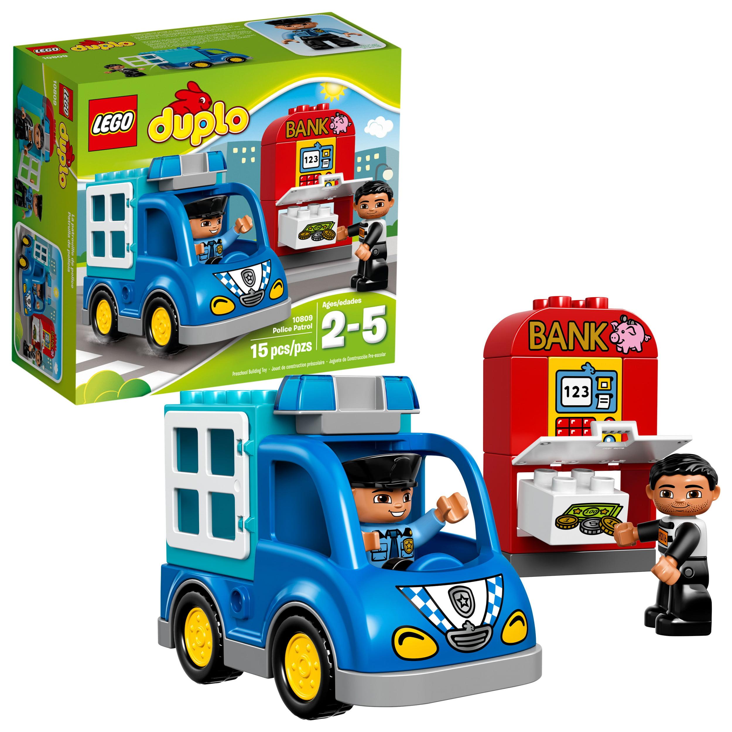 Lego DUPLO Police Patrol 10809 Preschool Building Toy 15 pc Box by Lego