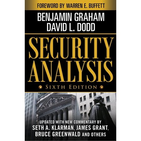 Security Analysis: Sixth Edition, Foreword by Warren Buffett for $<!---->