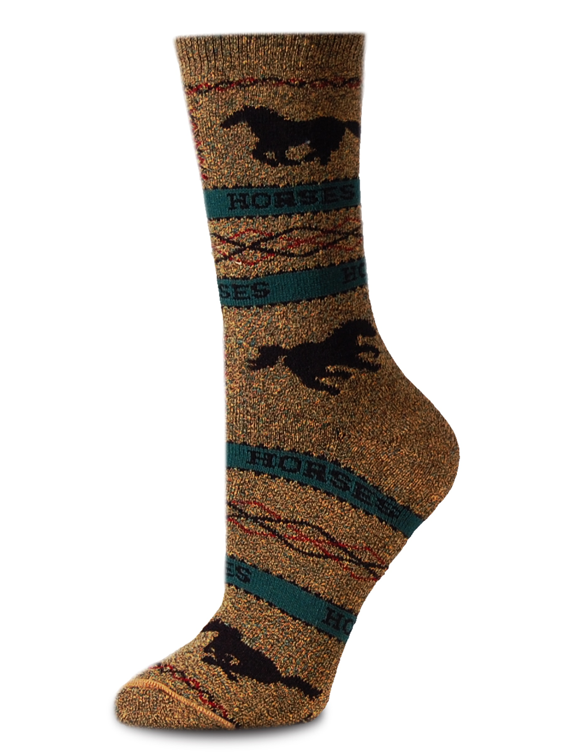 Horse Marble Bronze Medium Socks