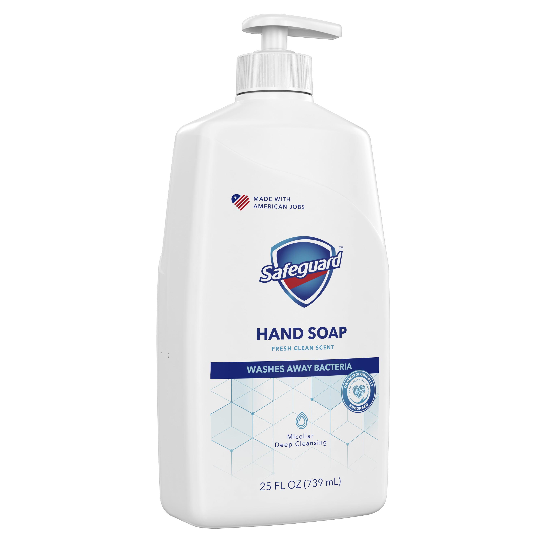 Safeguard Liquid Hand Soap, Fresh Clean Scent, 25 oz - Walmart.com