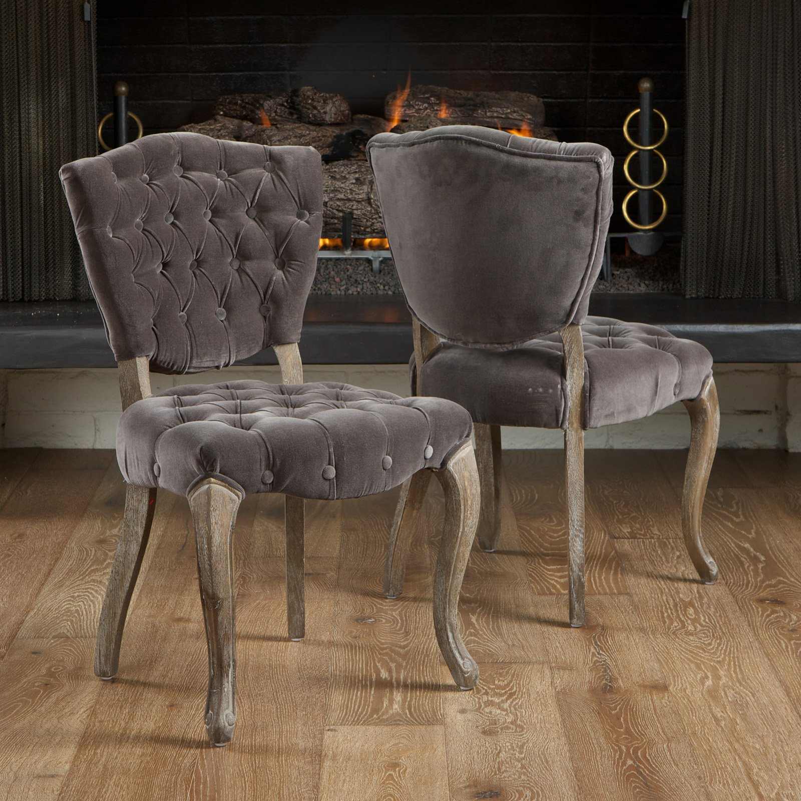 Best Selling Home Decor Bates Tufted Dining Chairs (Set of 2) 20.1W 33.5H