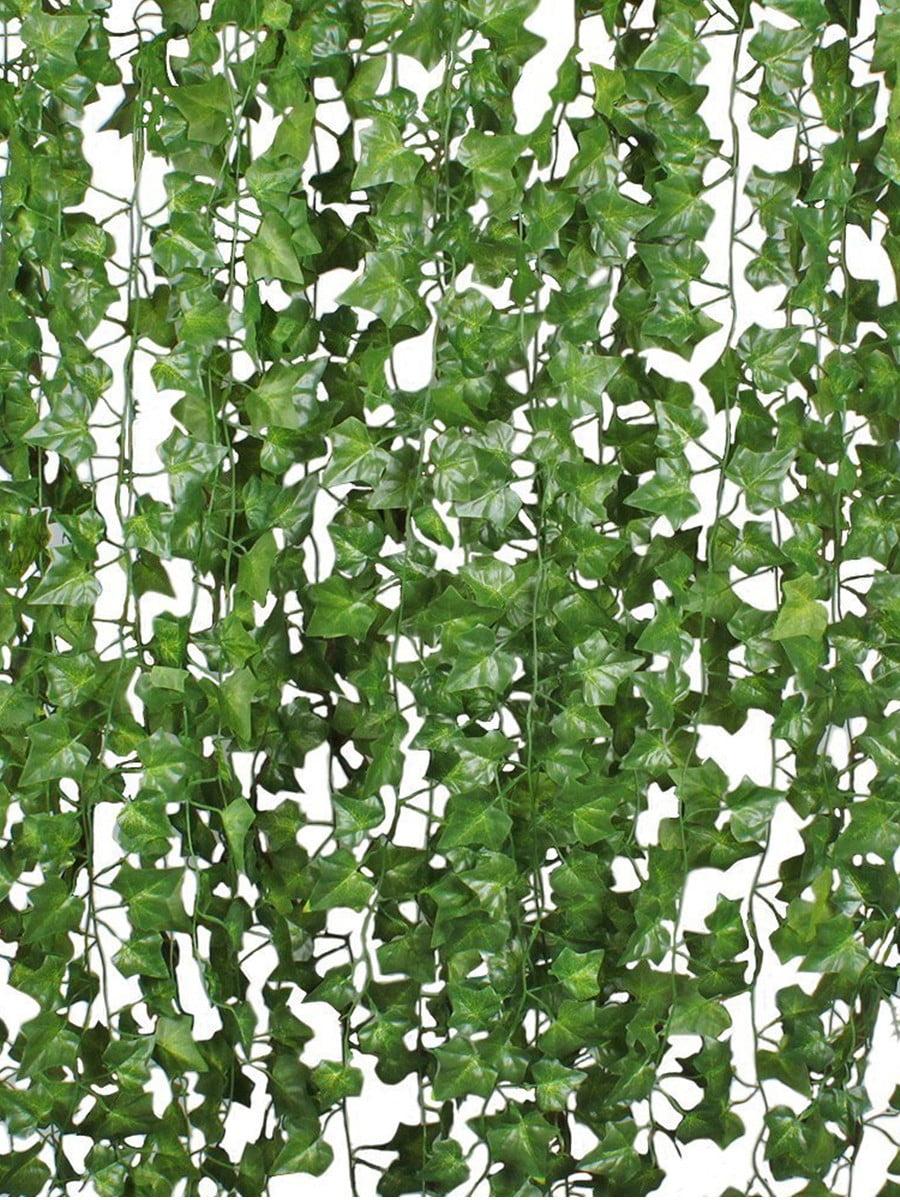 Leaves Long Green Silk Ivy Vine Garlan Artificial Hanging Flowers Plants Z9F8