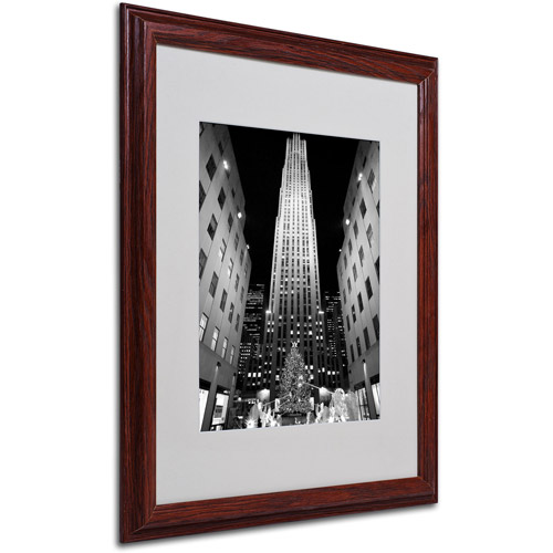 Trademark Art 'Rockefeller Night' Matted Framed Art by Yale Gurney