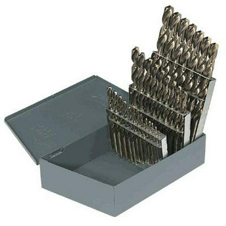TopLine Drill Bit Set M2 Premium 60pcs #1-60 USA Huot Index Bright Finish