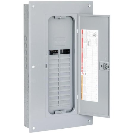 Square D HOM2040L125PC Convertible Mains (Lugs) Load Center, 120/240 VAC, 125 A, 1 Phases, 22000 AIR