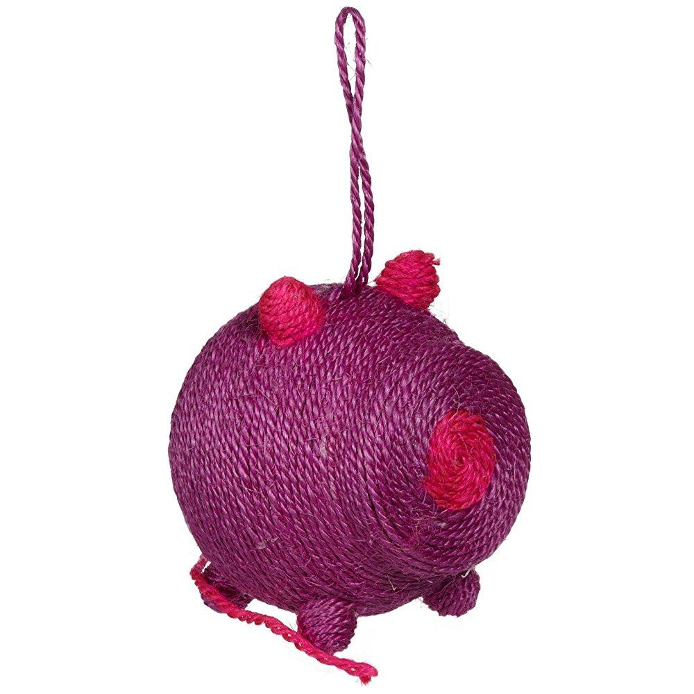 bobby miss pig cat scratching toy - purple