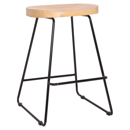 A C Pacific 24 in. Saddle Seat Counter Stool - Set of 2 ()