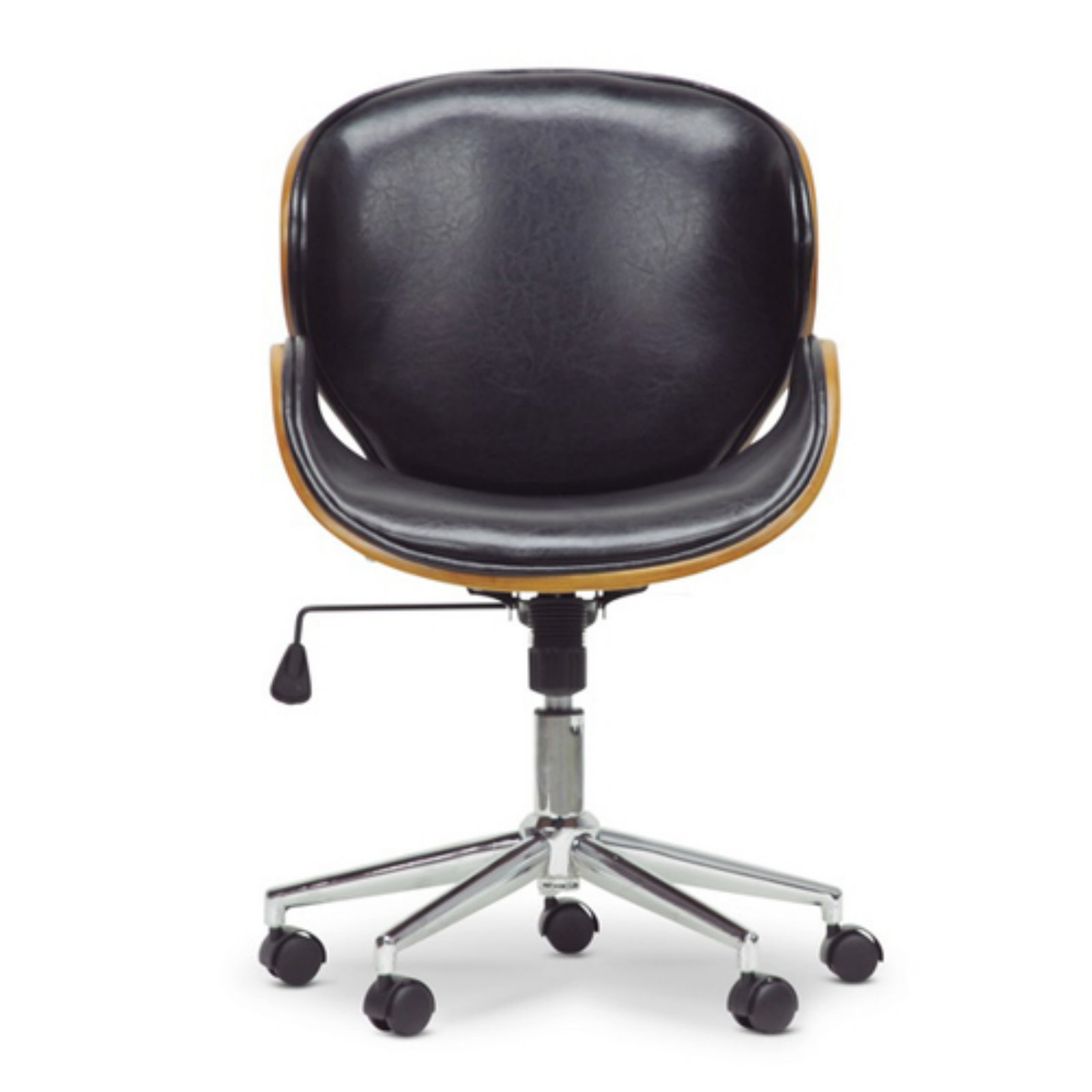 Prime Bruce Walnut And Black Modern Office Chair Home Interior And Landscaping Palasignezvosmurscom