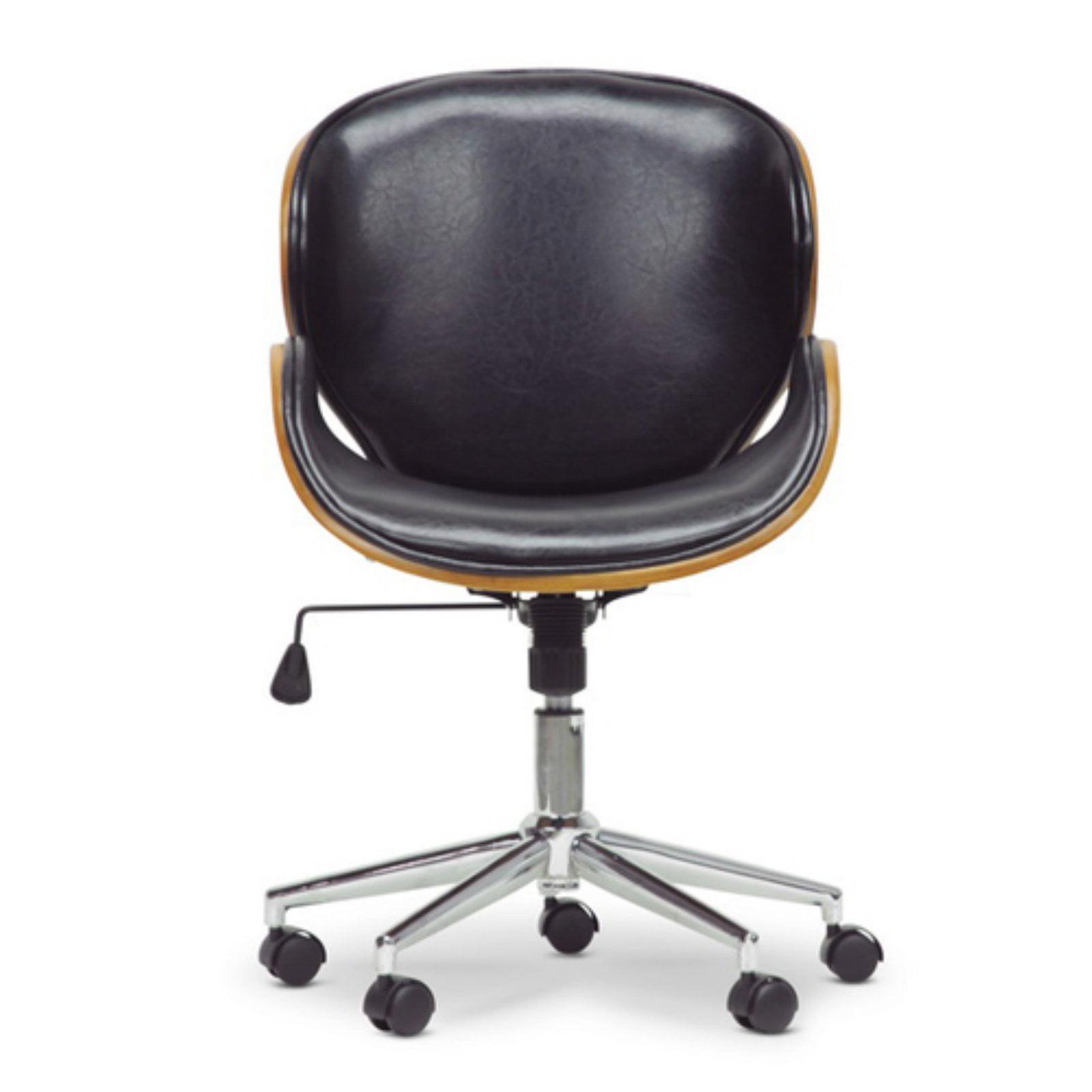 Marvelous Bruce Walnut And Black Modern Office Chair Interior Design Ideas Gentotryabchikinfo