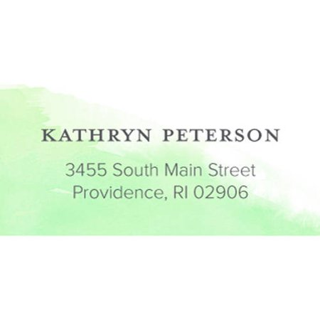 Watercolor Note Personalized Address Label