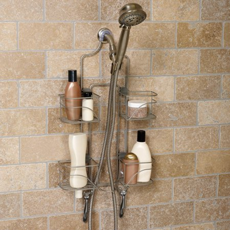Hawthorne Expanding Shower Caddy Satin Nickel