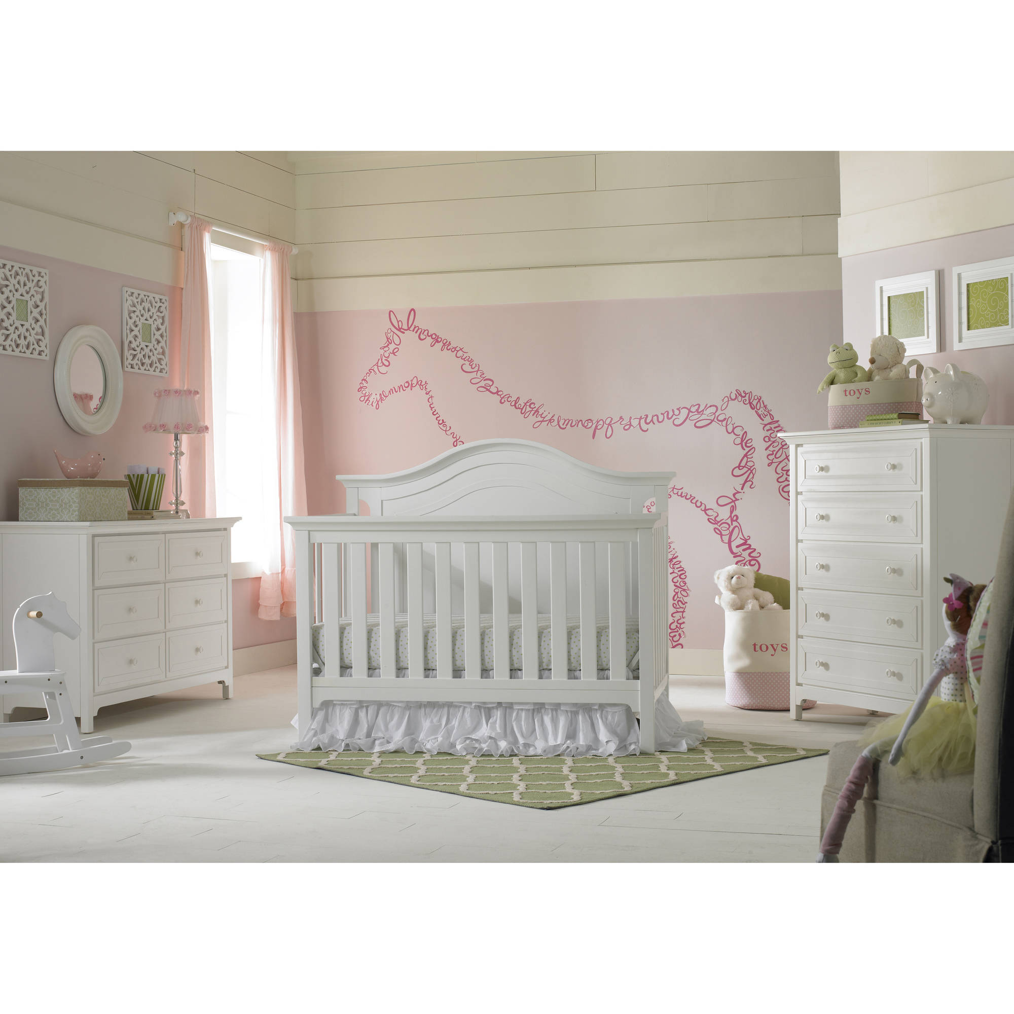 in emily cribs magnifier baby collection davinci convertible raw w white crib toddler rails